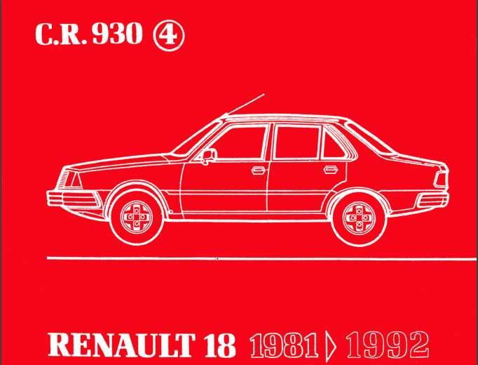 RENAULT 18 MANUAL DE DESPIECE 0