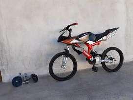 Bicicleta x-terra rodado 16 (estilo motocicleta)