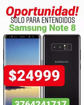 Samsung Note 8 impecable accesorios originales