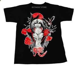 Camiseta Naruto Itachi Uchiha, estampada