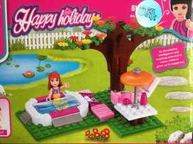 Fichas tipo lego piscina spa armable 142 piezas niñas