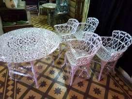 Juego de jardín modelo Boston por 4 sillones 100 por 100 aluminio..