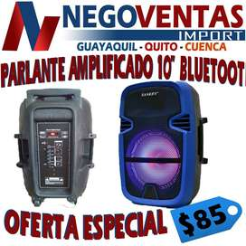 PARLANTE AMPLIFICADO DE 10 PULGADAS BT USB