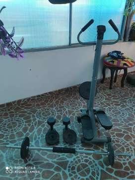 Kit gimnasio ( pesas y escaladora)