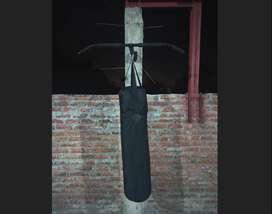 Saco de boxeo 1.10 m + guantes, con barra T soporte para Saco, ejercicios funcionales y T R X