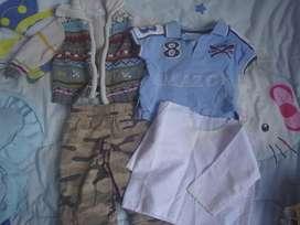 Lote ropa para niño de 0 a 6 meses camisas pijamas bodys