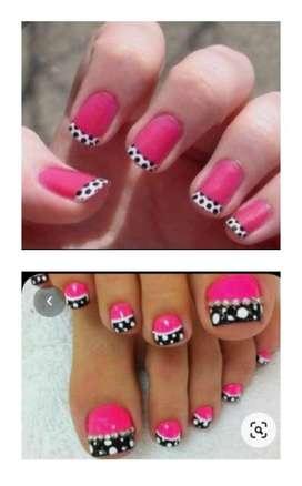 Acrilicas manicure, pedicure