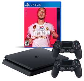 PlayStation + FIFA20 + 2 joystick