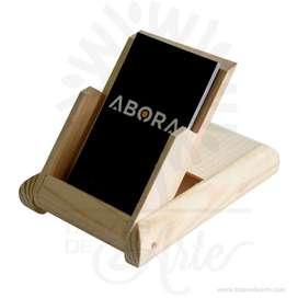 Caja tarjetero en madera de pino - Precio COP