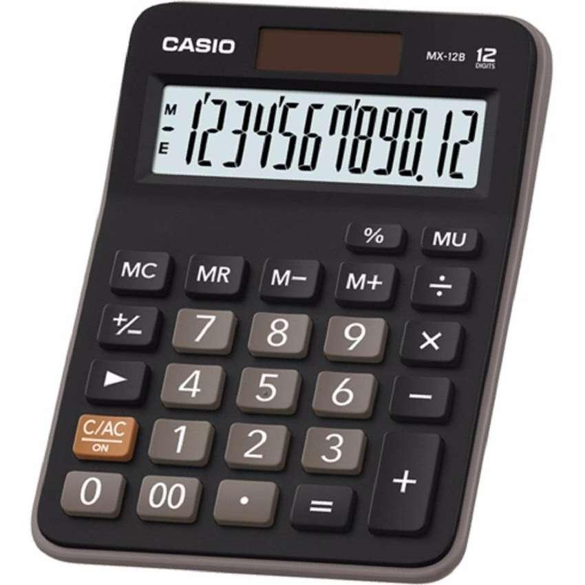 Calculadora CASIO MX 12B de 12 dígitos con celda solar NUEVA 0