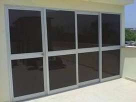 Mamparas ventanas melamina acabados en general