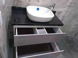 Muebles y mesones de baño en marmol o granito