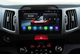 Radio Pantalla Android Kia Sportage R 2010/20 WiFi Mirrorlink Bluetooth USB GPS y Cámara De Retro