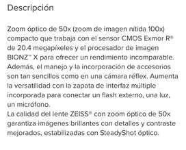 Cámara Semi-profesional Sony Hi-Zoom-DSC-HX400v