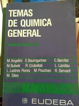 """""""Temas de Química General"""", versión ampliada. M. Angelino y otros. Editorial EUDEBA"""