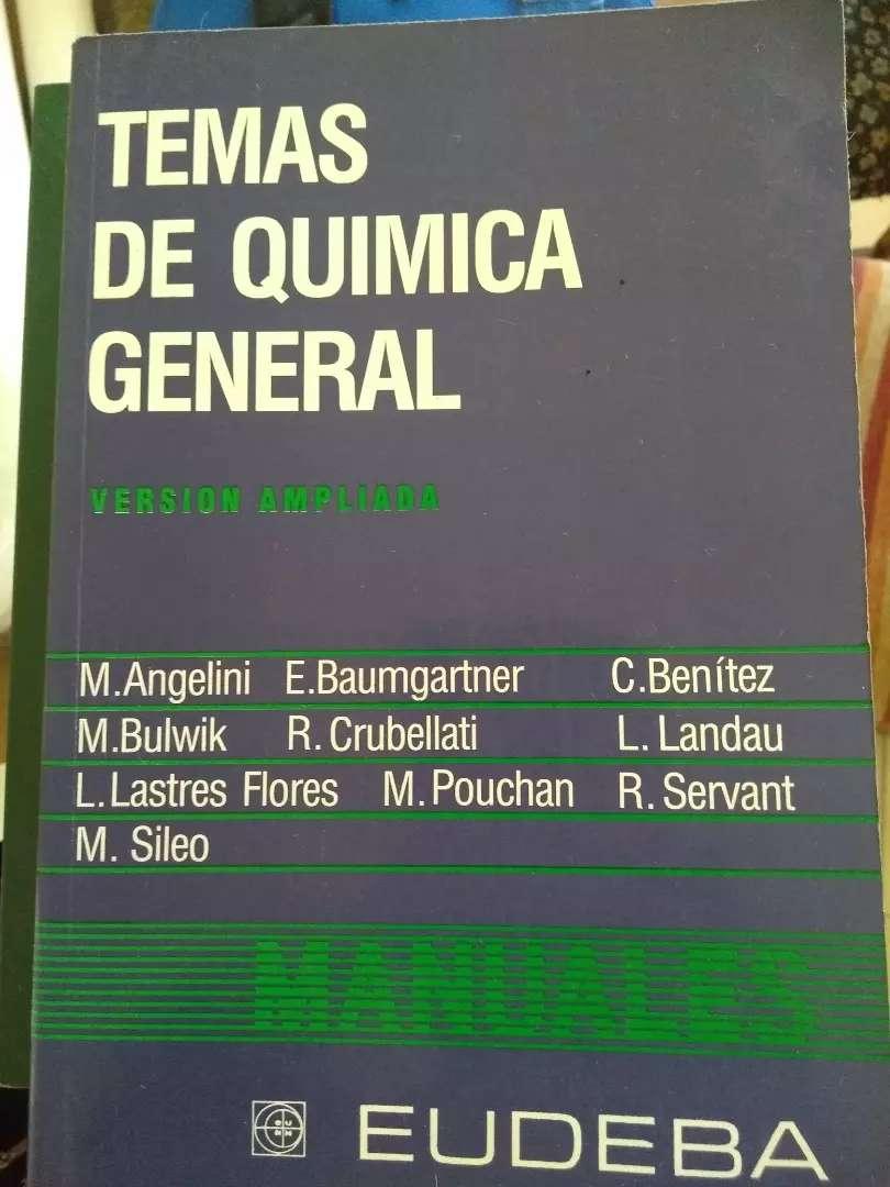 """""""Temas de Química General"""", versión ampliada. M. Angelino y otros. Editorial EUDEBA 0"""