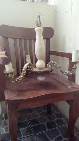 Antigua Lámpara Araña de bronce