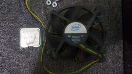 Procesador Intel core 2 duo E8400+ cooler