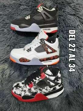 Tenis Nike Air Jordan Retro 4 niños