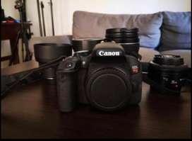 Canon T7i + 4 lentes