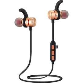 Audífonos Bluetooth Deportivos Iman Magneticos Con puerto Microsd