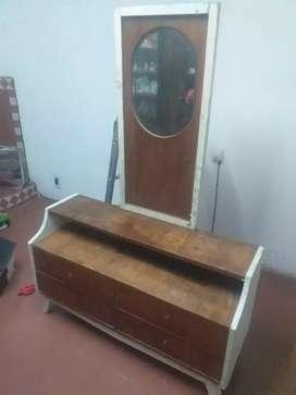 Juego de dormitorio chicos 2 camas una plaza con comoda con espejo