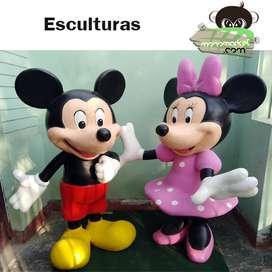 Esculturas De Minnie Y Mickey Clásico 1.70 Metros