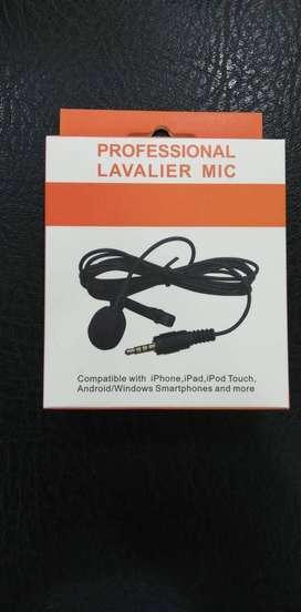 micrófono lavalier de solapa mic