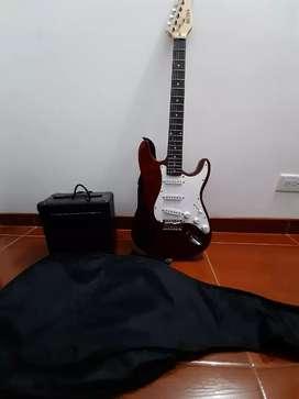Guitarra Eléctrica Boss+Accesorios