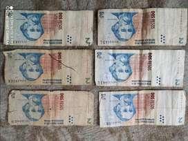 Billetes de $2