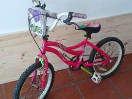 Bicicleta rodado 18 para nena usada