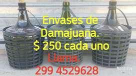 ENVASES DAMAJUANA CEL. 299 4529628