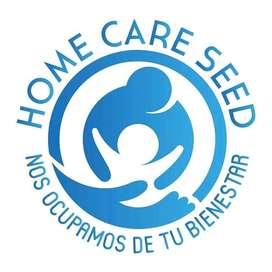 HOME CARE SEED ofrecemos servicios de enfermería y terapia física y médico general terapia de sicología las 24horas