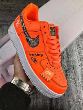 Nike air force one just do it naranja