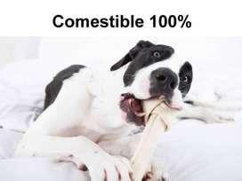 Hueso Carnaza perro juguete mascota producto comestible 100%