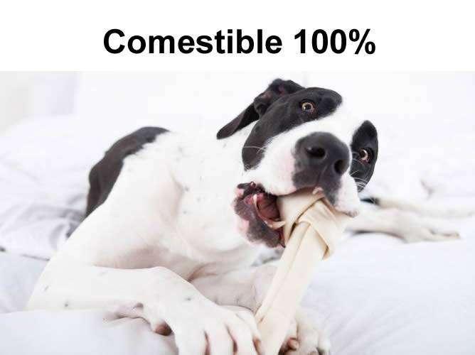 Hueso Carnaza perro juguete mascota producto comestible 100% 0