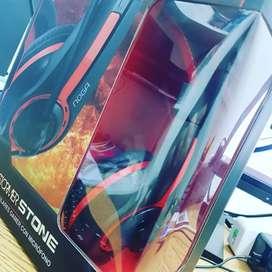 Auriculares noga gamer con micrófono