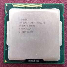 Procesador Intel Core i5 2310 a 2.9 GHz LGA 1155 Ram DDR3 4 GB, Tarjeta de Video ATI Shapphire HD 4670 1 GB