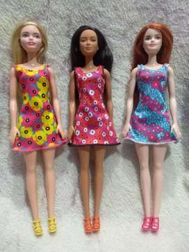 Muñecas Barbie año 2017 originales sin caja, nuevas , sin usar