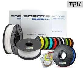 Filamento Tpu Flexible Premium Impresión 3d, 1/2lb, 250gr