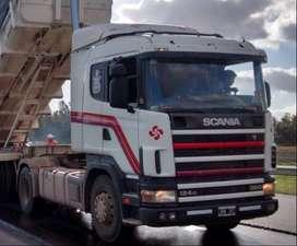 Scania 124 360 tractor con equipo hidraulico