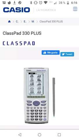 Calculadora Cassio clas spad 330 plus