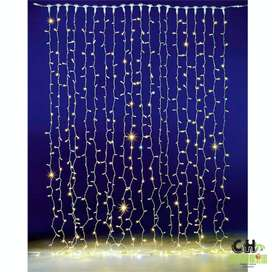 Cortina Led 4.5 M x 3 M 300 Led decoracion interior exterior