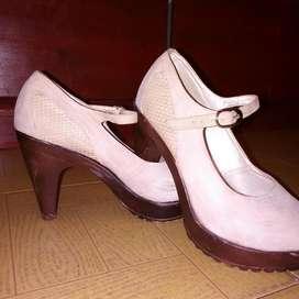 Zapatos tacón talla 37/ 38 Usado ver descripción