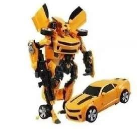 Transformer Bumblebee Carro Juguete Niños Cibertron