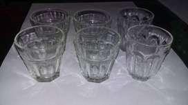 Vasitos de vidrio x6