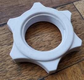 Repuesto ventilador tuerca ajuste rejilla reforzada 3cm int