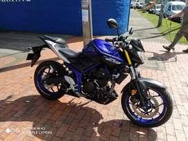 Yamaha MT 03 modelo 2018 y 6000 KMS perfecto estado lista para traspaso