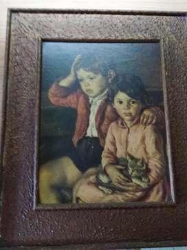 Reproduccion de Pintura al óleo sobre madera. Luis Garcia Oliver. 1944