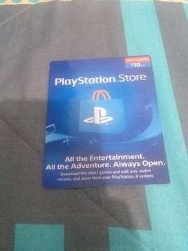 Vendo tarjetas de Play Station Store